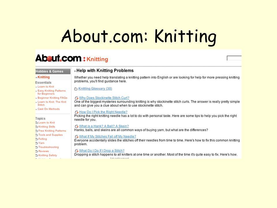 Knitting Help http://www.knittinghelp.com