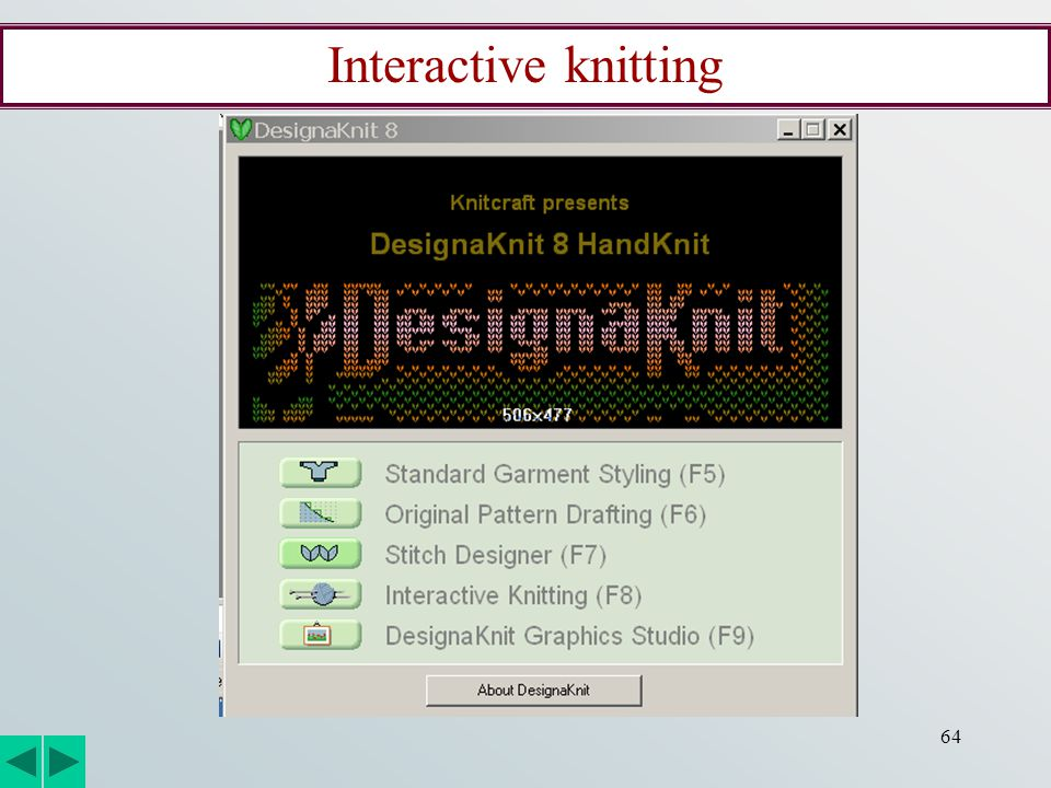 64 Interactive knitting