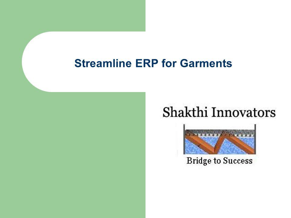 Streamline ERP for Garments