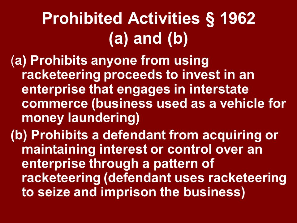 What Is RICO. Racketeer Influenced and Corrupt Organizations (RICO) Act 18 U.S.C.