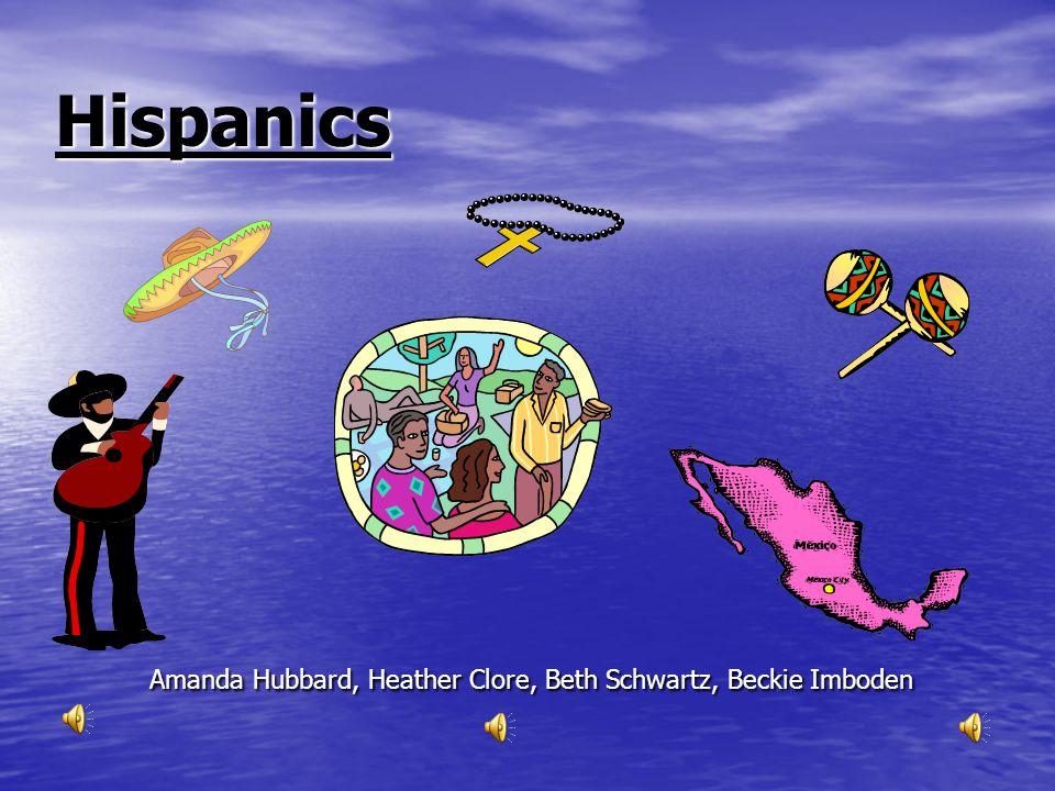 Hispanics Amanda Hubbard, Heather Clore, Beth Schwartz, Beckie Imboden