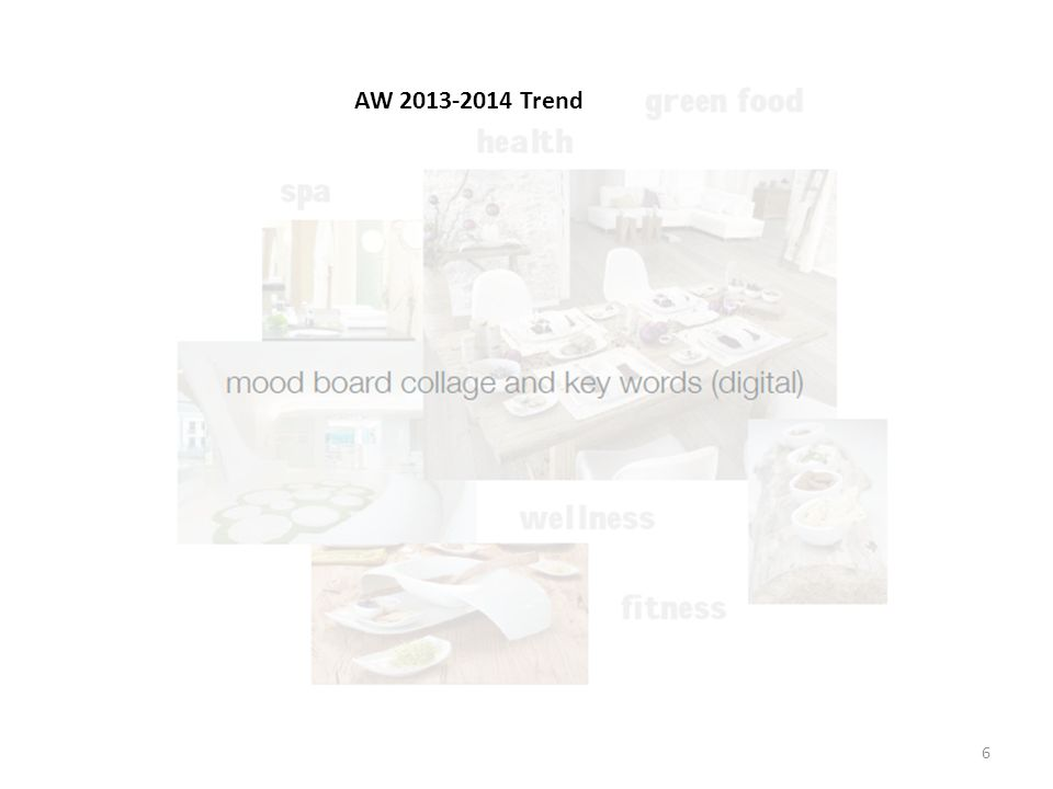 Your sub-trend title and collage (by hand with different samples and materials) 7