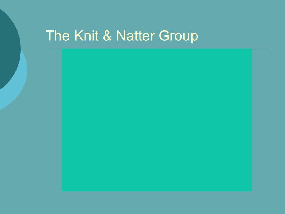 The Knit & Natter Group