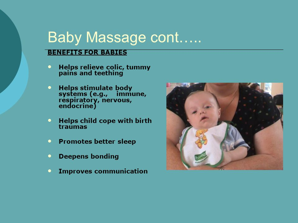 Baby Massage cont…..