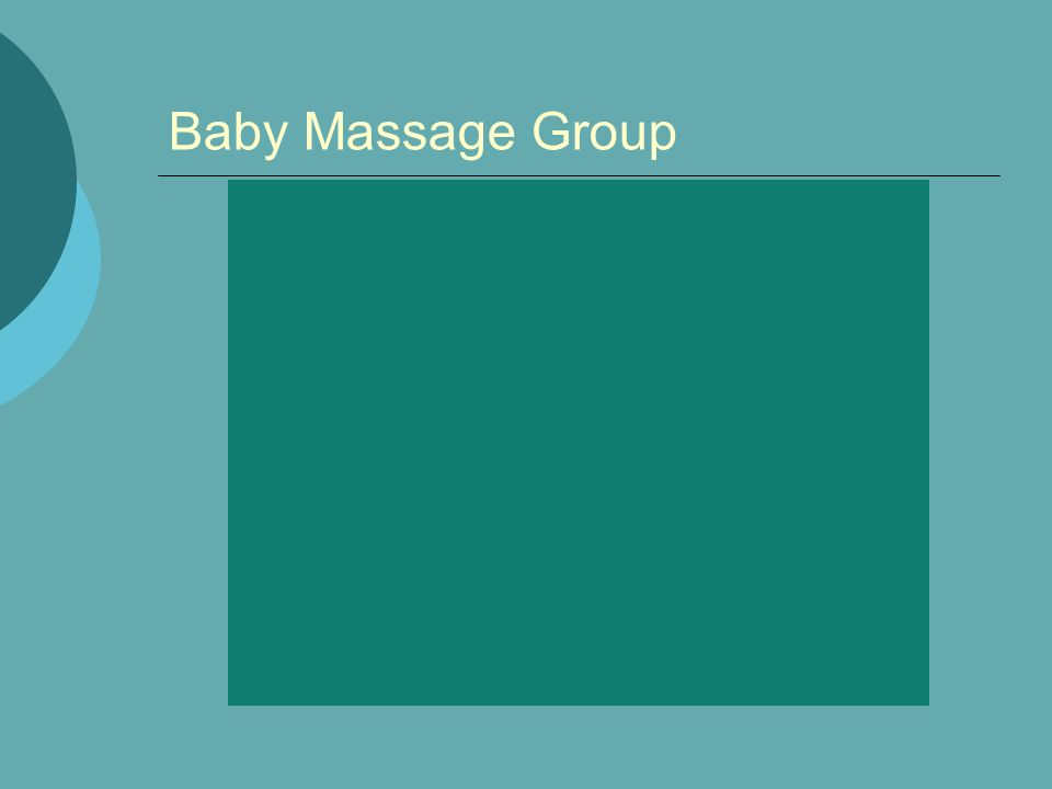 Baby Massage Group