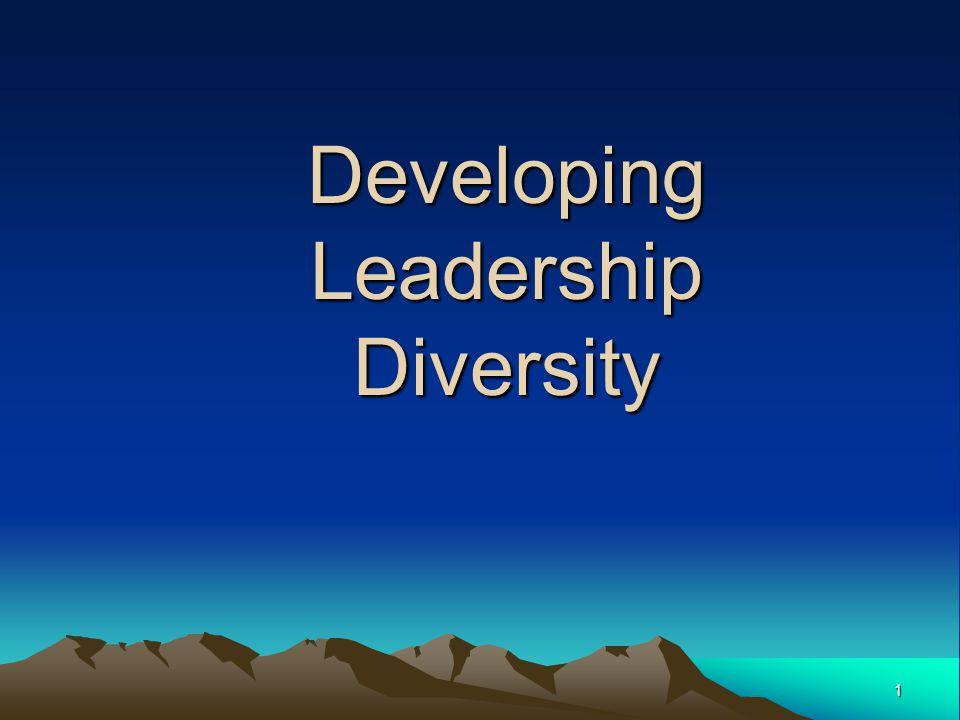 1 Developing Leadership Diversity
