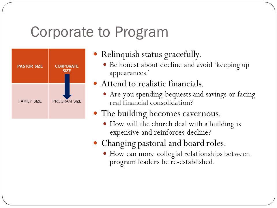 Corporate to Program Relinquish status gracefully.