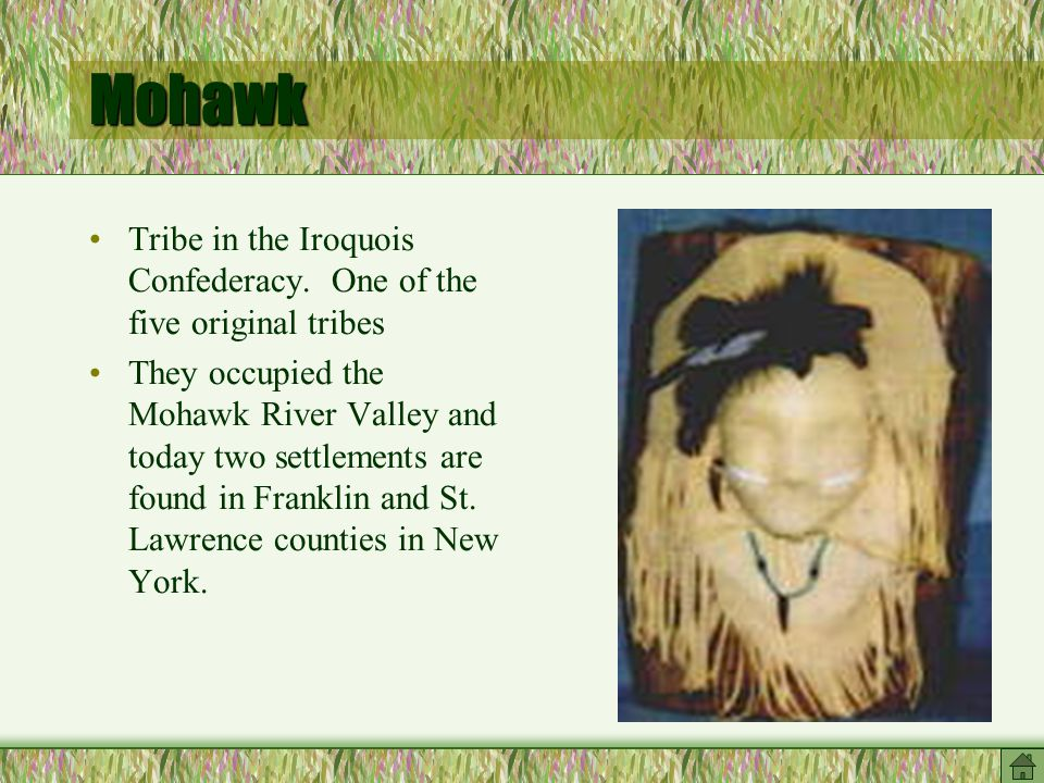 Mohawk Tribe in the Iroquois Confederacy.