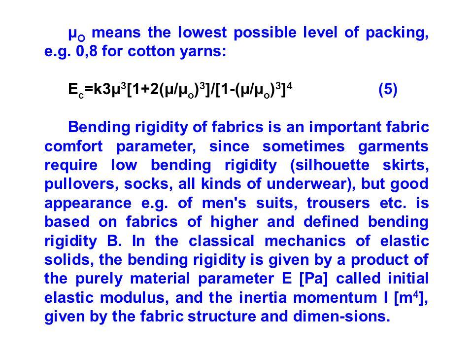 μ O means the lowest possible level of packing, e.g.