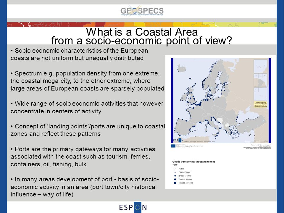 What is a Coastal Area from a socio-economic point of view.
