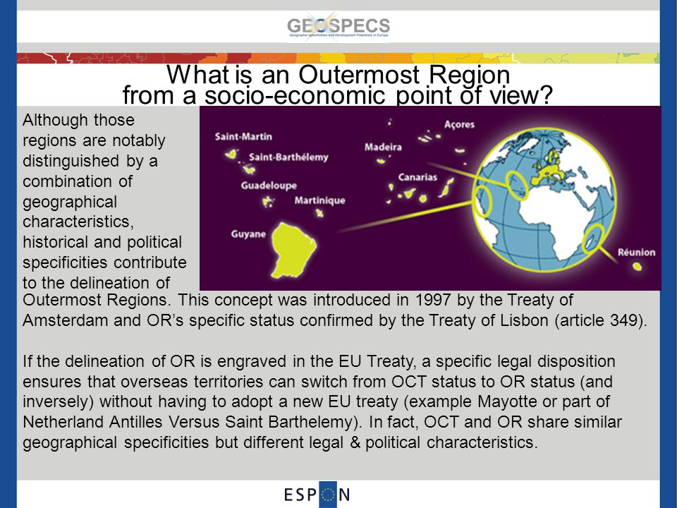 What is an Outermost Region from a socio-economic point of view.