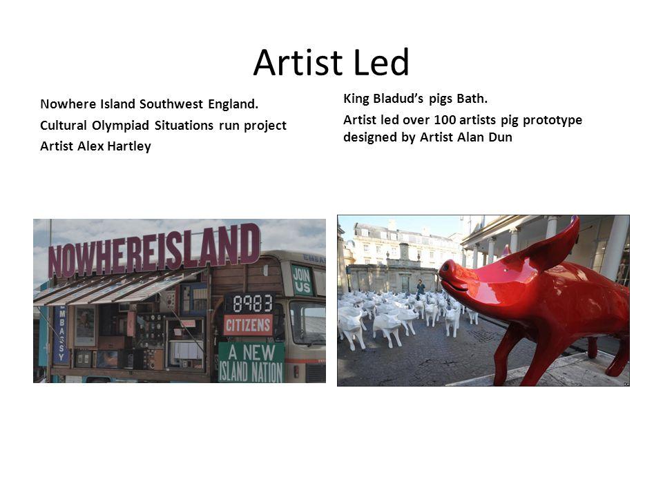 Artist Led Nowhere Island Southwest England.