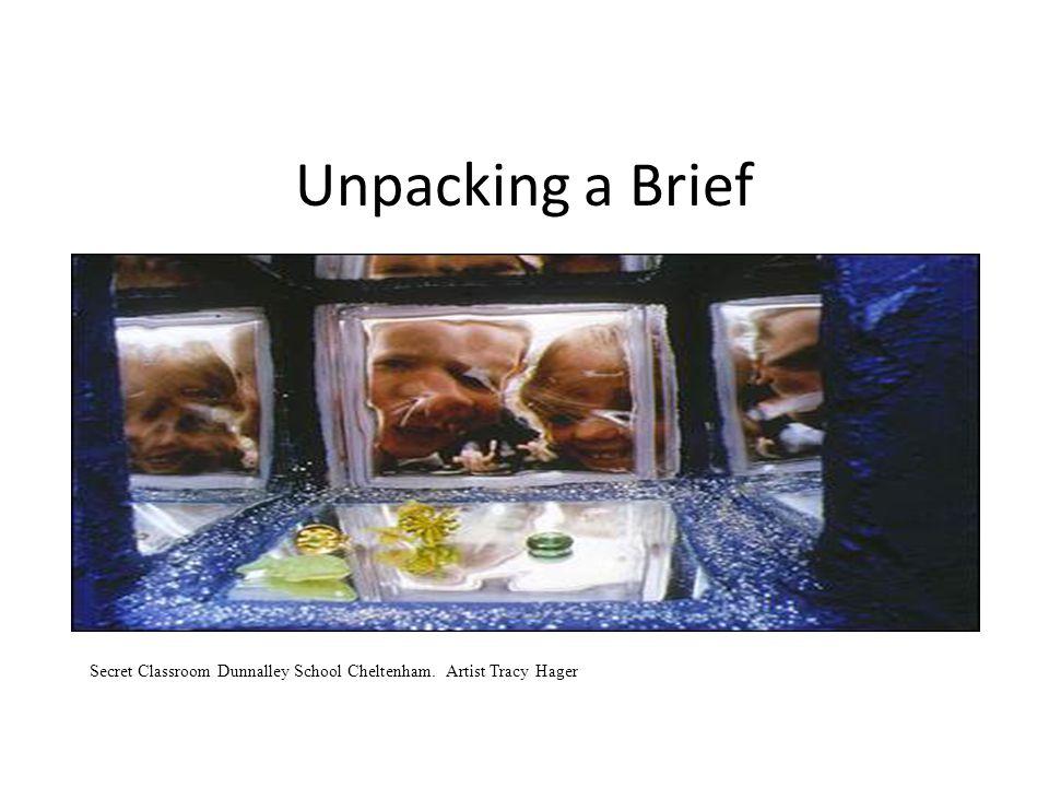 Unpacking a Brief Secret Classroom Dunnalley School Cheltenham. Artist Tracy Hager