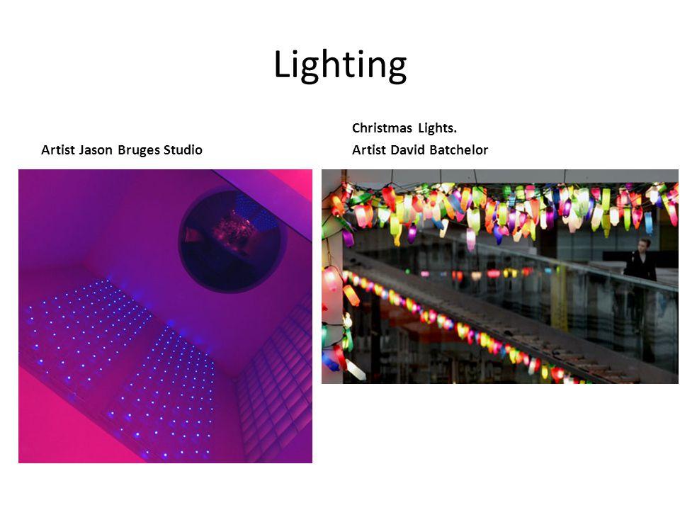 Lighting Artist Jason Bruges Studio Christmas Lights. Artist David Batchelor