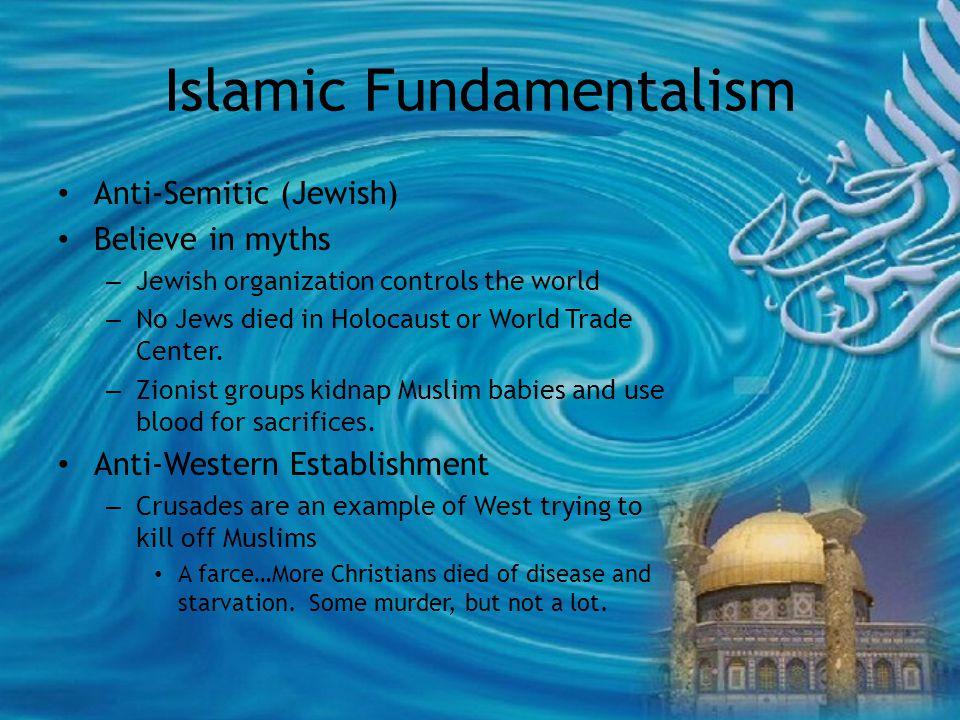Islamic Fundamentalism Biggest threat is not U.S.Military.