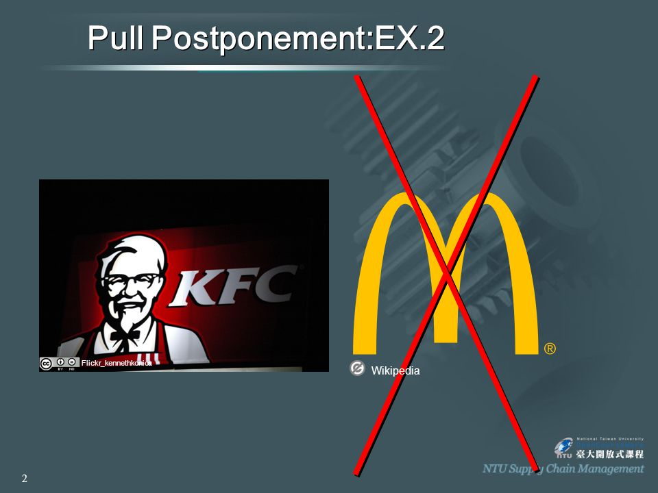 Pull Postponement ►Basic Elements: 》 The process steps must be sequenced so that the less differentiating steps are performed at prior to the decoupling point.