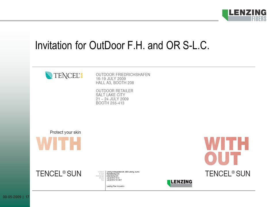 08-05-2009 | 17 Invitation for OutDoor F.H. and OR S-L.C.