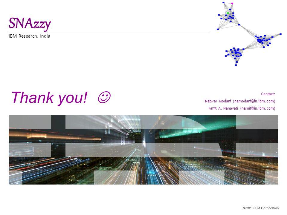 © 2010 IBM Corporation Thank you.
