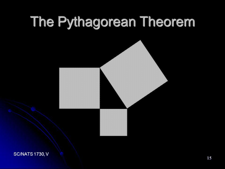 SC/NATS 1730, V 15 The Pythagorean Theorem