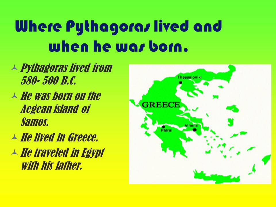 Pythagoras The teacher who paid his Students.