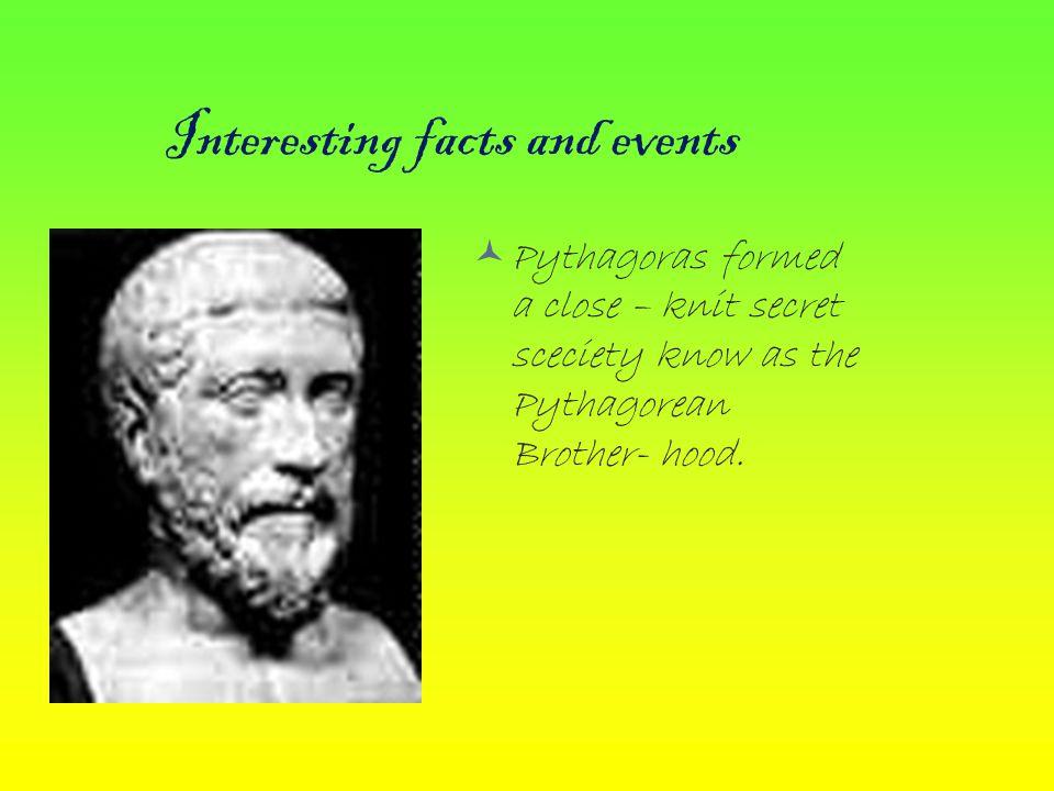 Where Pythagoras lived and when he was born.Pythagoras lived from 580- 500 B.C.