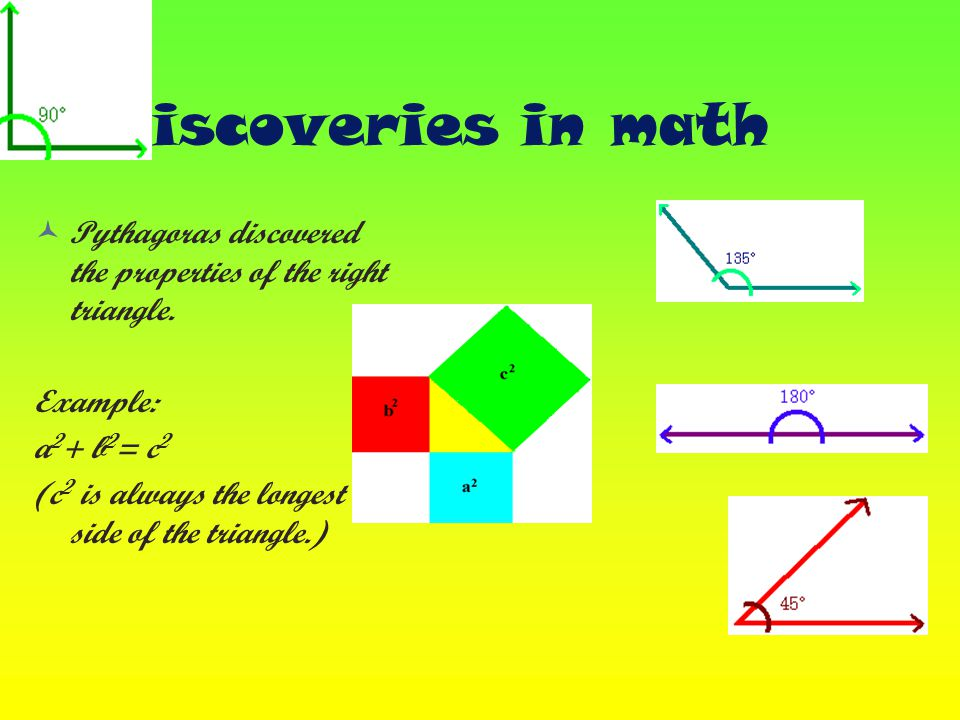 Interesting facts and events Pythagoras formed a close – knit secret sceciety know as the Pythagorean Brother- hood.