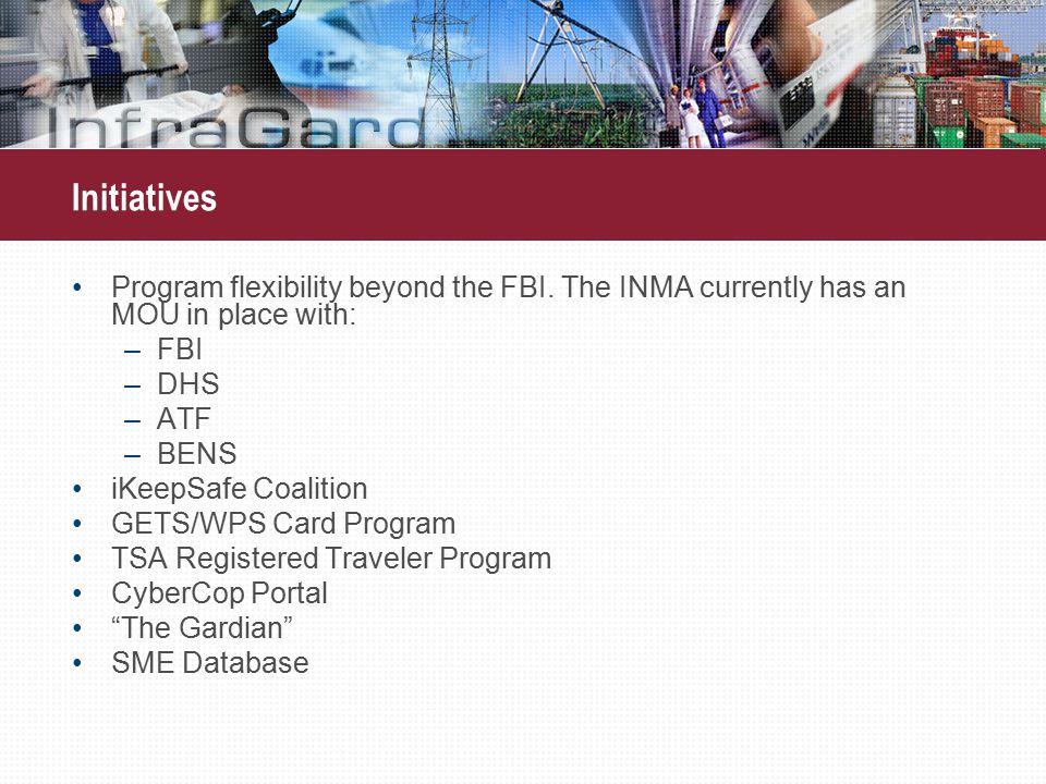 Initiatives Program flexibility beyond the FBI.