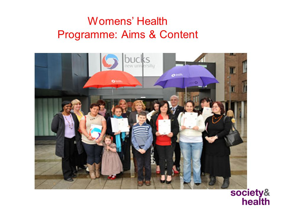 Womens' Health Programme: Aims & Content