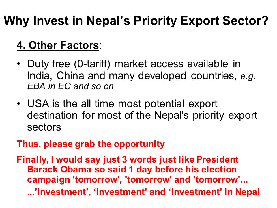Why Invest in Nepal's Priority Export Sector.4.
