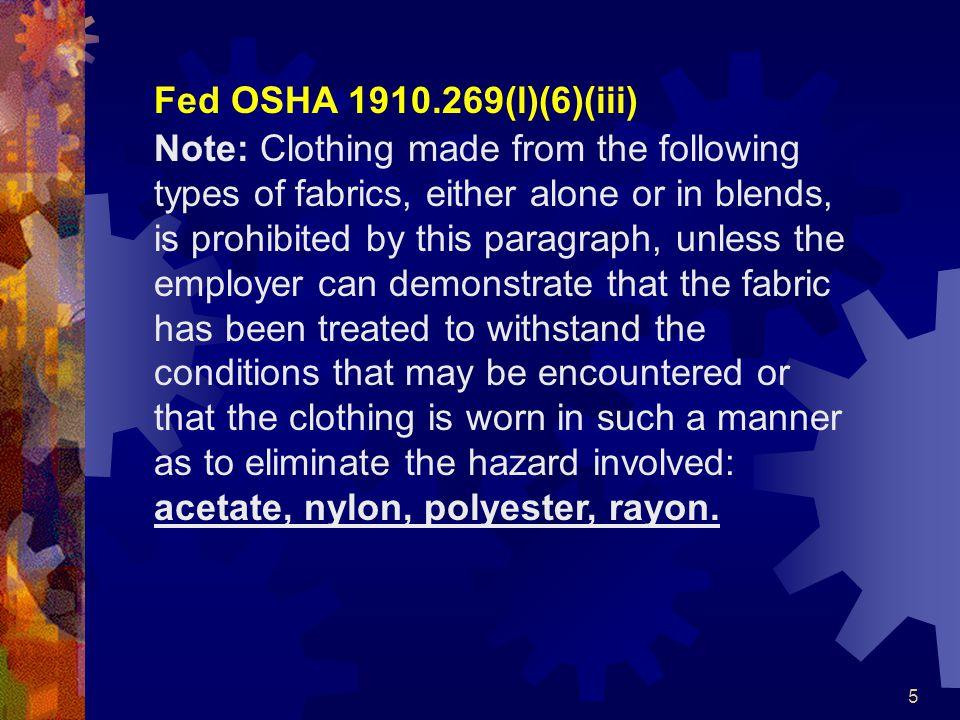 6 CAL/OSHA §2320.2.