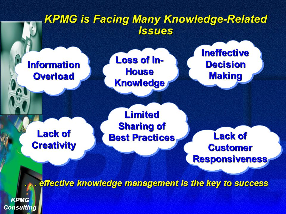 """KPMG Consulting """" The """" The global advisory firm whose aim is to turn knowledge into value for the benefit of its clients, its people and its communit"""