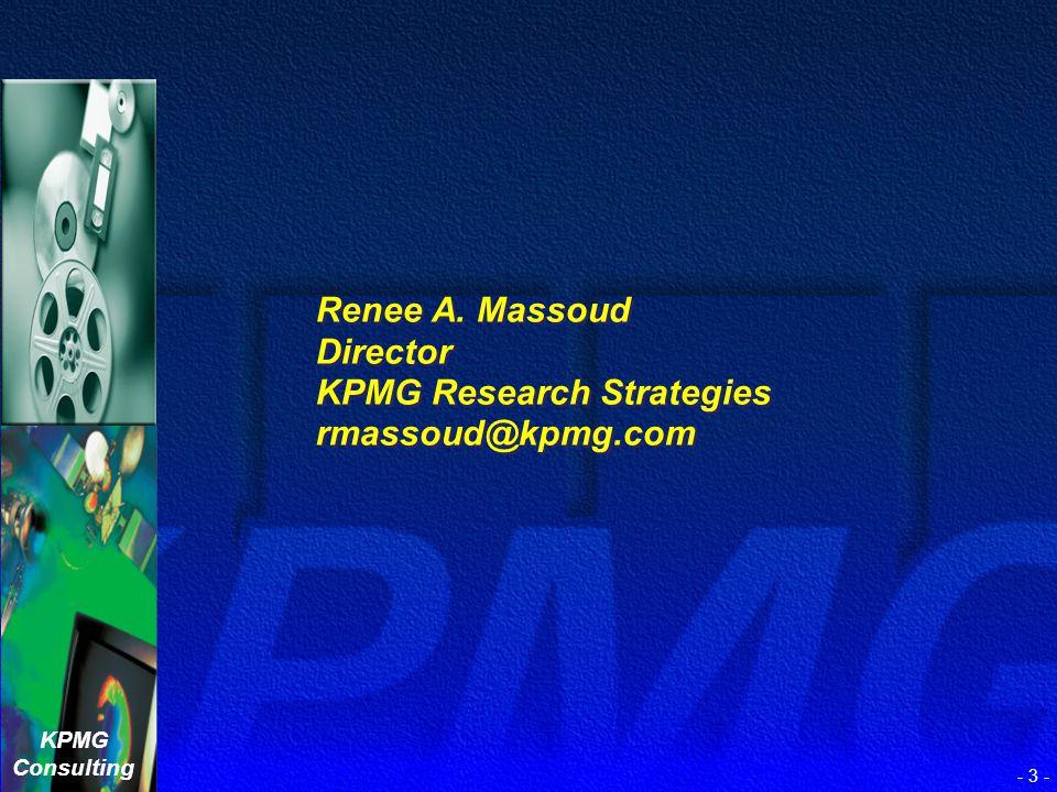 KPMG Consulting - 2 - Melinda J. Bickerstaff Director eWorkforce Solutions Group mbickerstaff@kpmg.com Melinda J. Bickerstaff Director eWorkforce Solu
