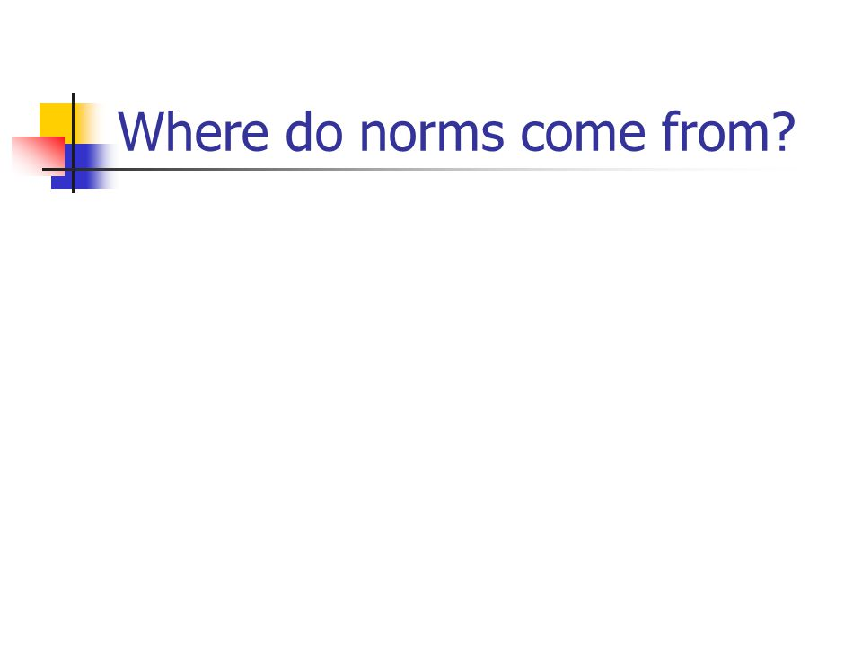 Where do norms come from
