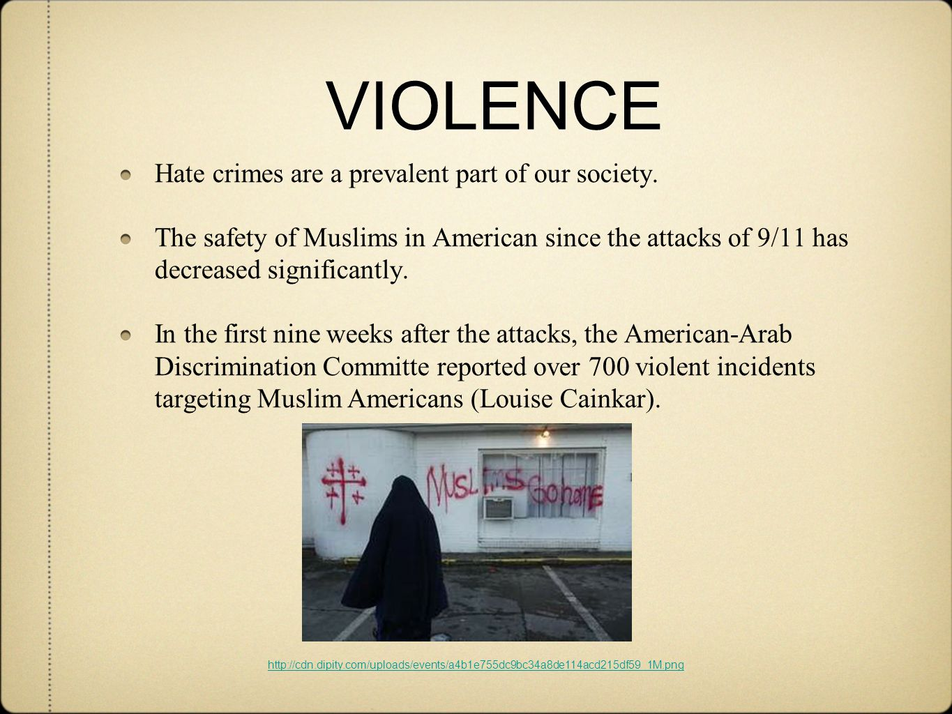 VIOLENCE Hate crimes are a prevalent part of our society.