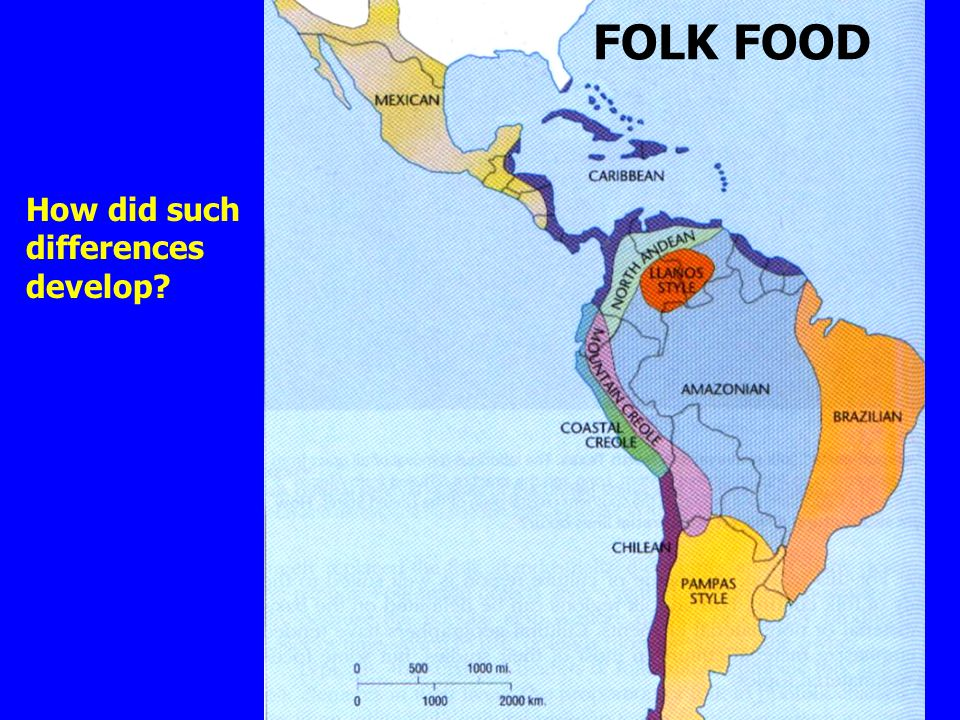 FOLK FOOD How did such differences develop?