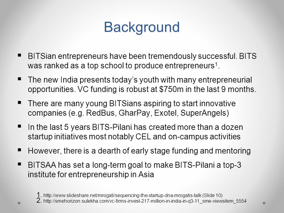 What is BITS Spark § In July 2011, BITSAA International set a high-level objective: Create an eco-system of partners in industry, government and academia to enhance research and entrepreneurship at BITS Pilani.