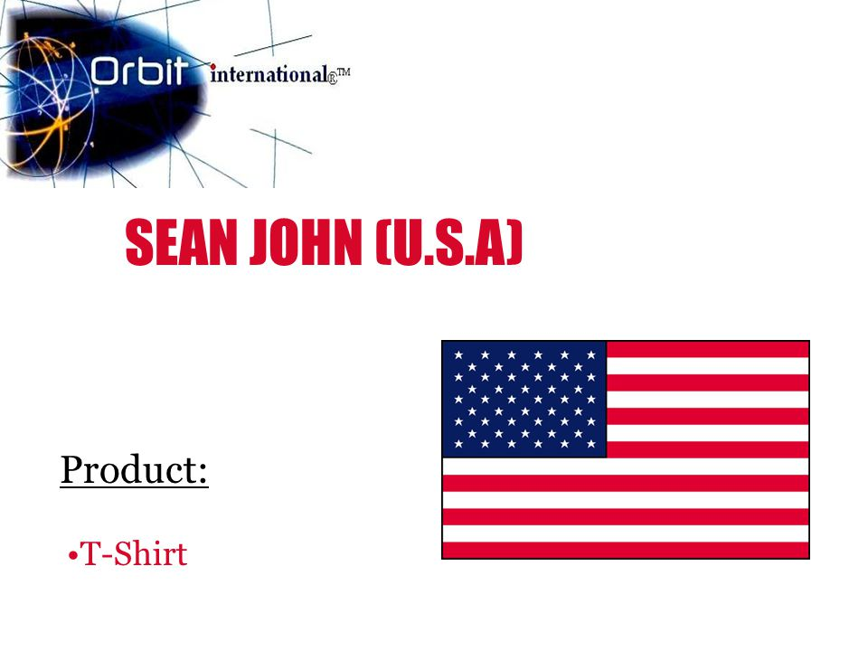 SEAN JOHN (U.S.A) Product: T-Shirt