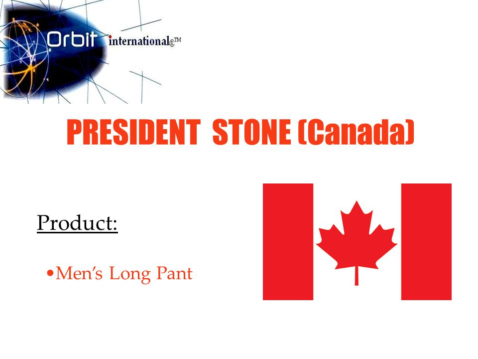 PRESIDENT STONE (Canada) Product: Men's Long Pant