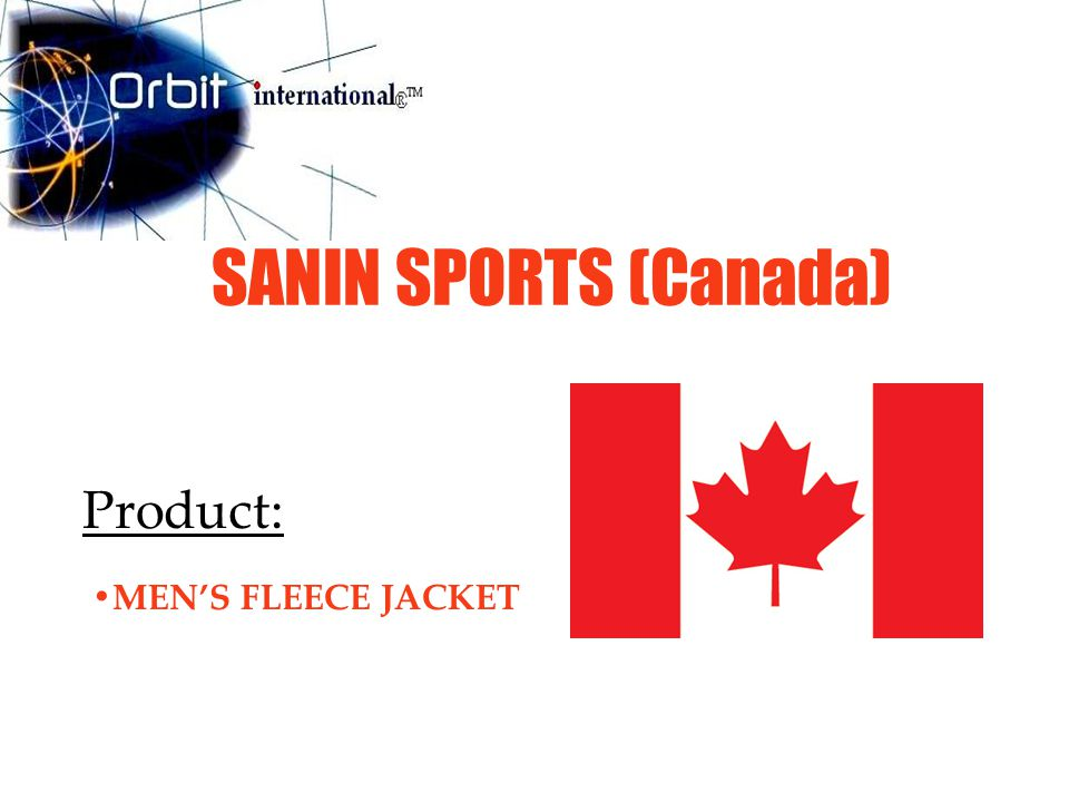 SANIN SPORTS (Canada) Product: MEN'S FLEECE JACKET