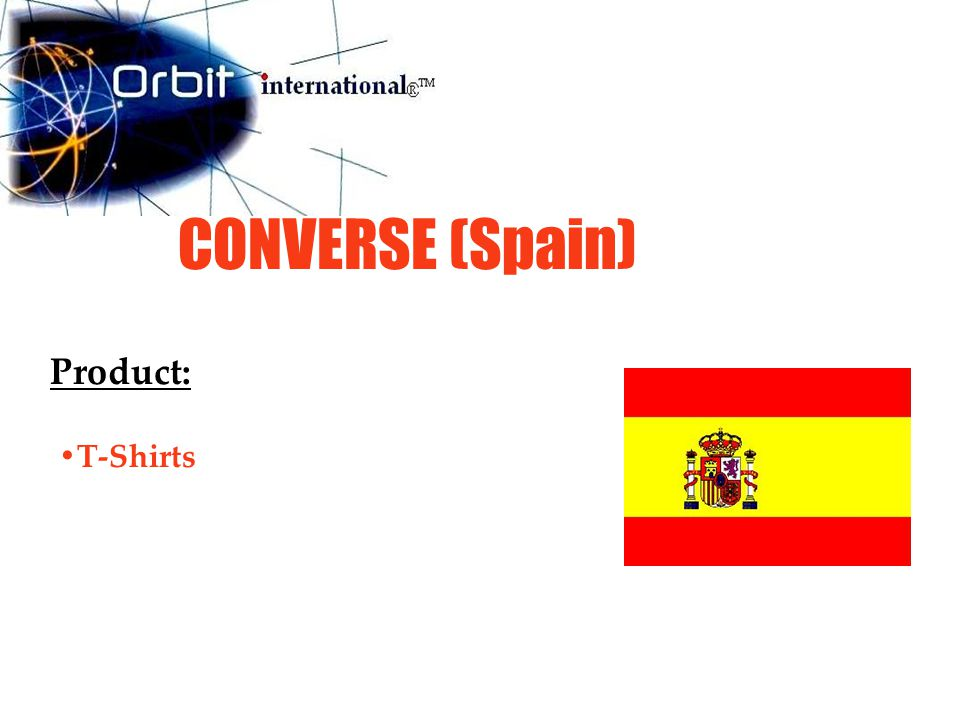 CONVERSE (Spain) Product: T-Shirts