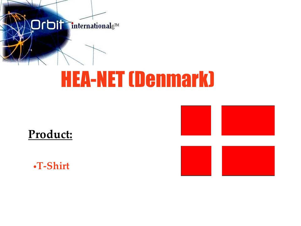 HEA-NET (Denmark) Product: T-Shirt