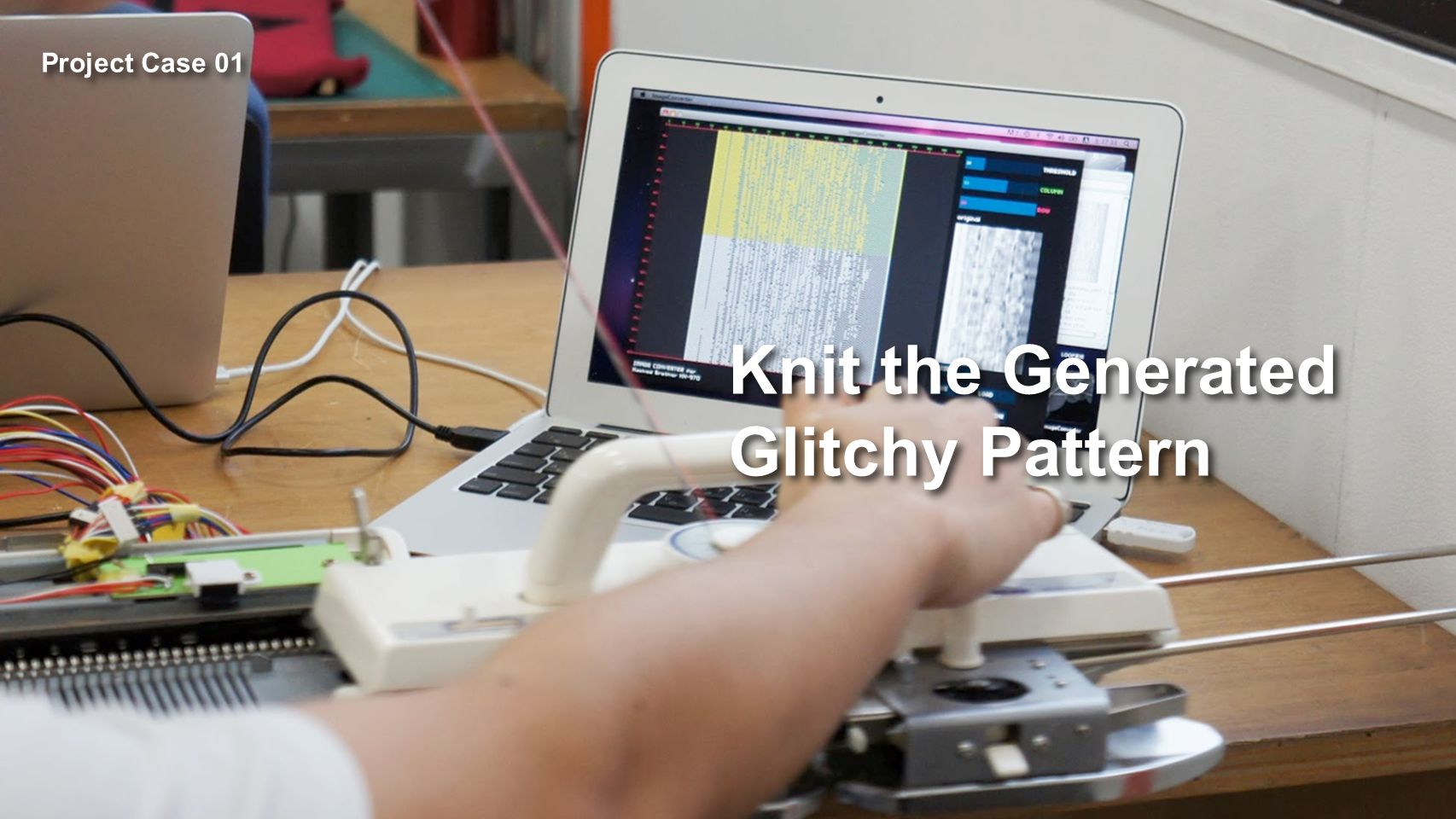 Knit the Generated Glitchy Pattern Project Case 01