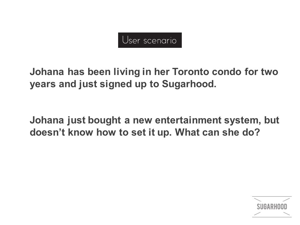 Johana just bought a new entertainment system, but doesn't know how to set it up.