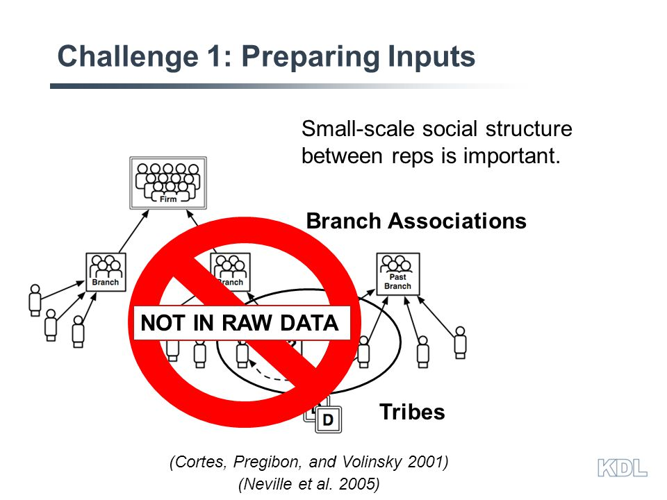 Challenge 1: Preparing Inputs Small-scale social structure between reps is important.