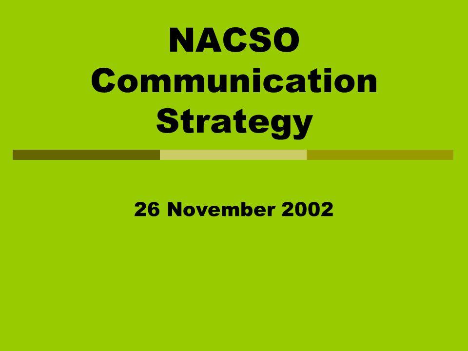 NACSO Communication Strategy 26 November 2002