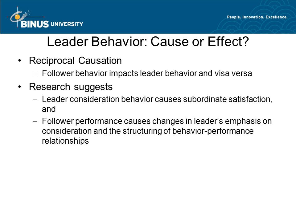 Leader Behavior: Cause or Effect.