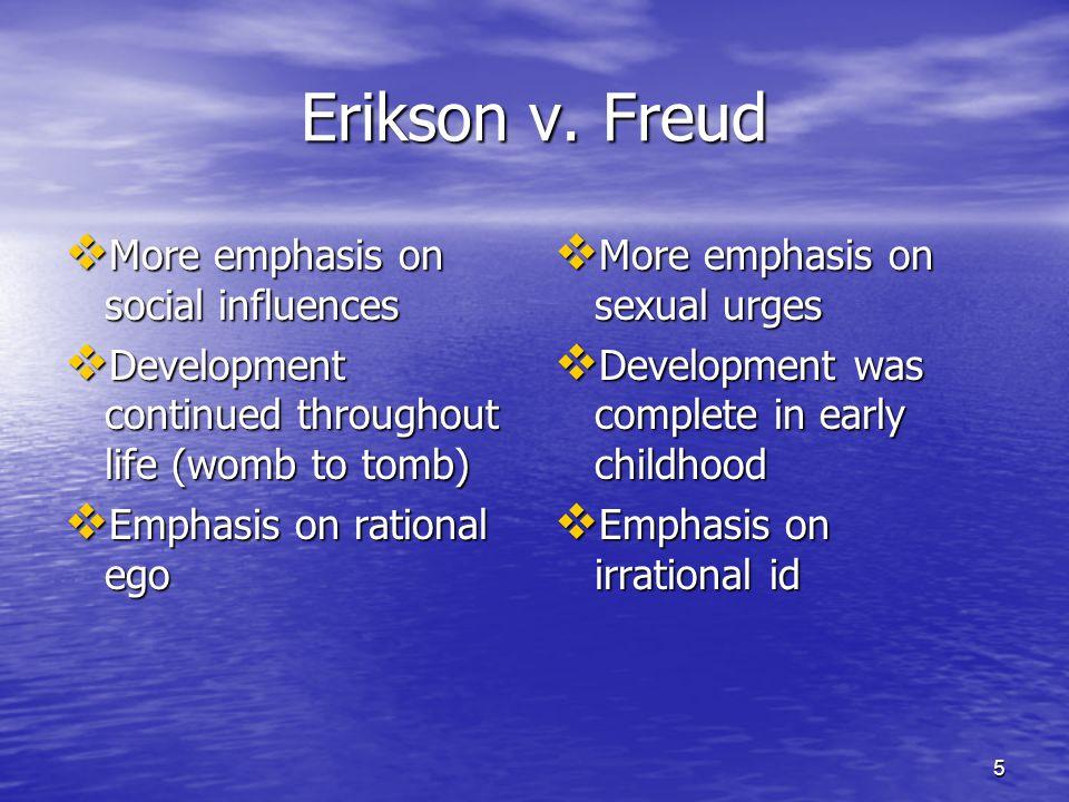 6 Erikson's Eight Stages Trust v.Mistrust(Birth-1) Trust v.