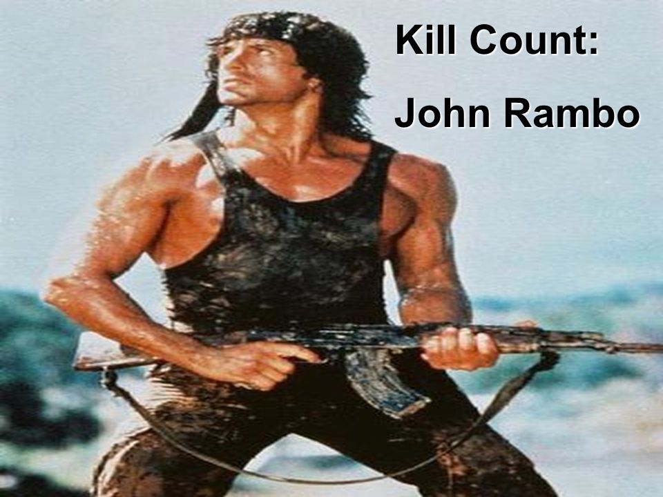 Kill Lists: John Rambo Kill Count: Kill Count: John Rambo John Rambo