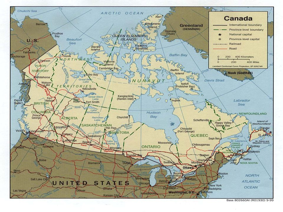 Canada's population as of July 2008 = 33,212,696 https://www.cia.gov/library/publications/the-world-factbook/print/ca.html