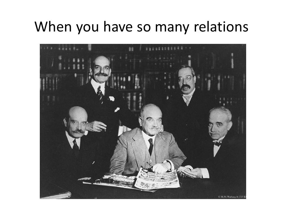 When you have so many relations